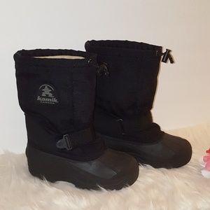 🍒KAMIK WINTER SNOW BLACK BOOTS SIZE 3
